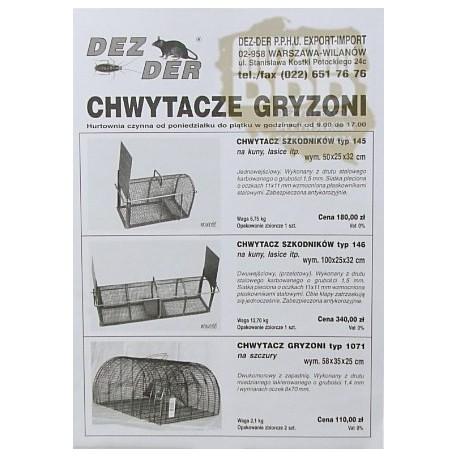 REKLAMA CHWYTACZY GRYZONI firmy DEZ-DER Z 1997 ROKU